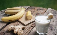 عصير الموز والزنجبيل لسد الشهية وحرق دهون البطن